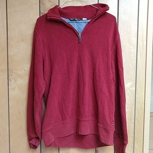 Eddie Bauer Red Long Sleeved Small Shirt